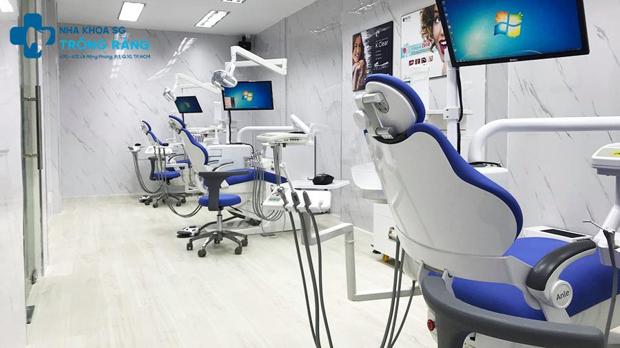 cơ sở vật chất nha khoa trồng răng sài gòn
