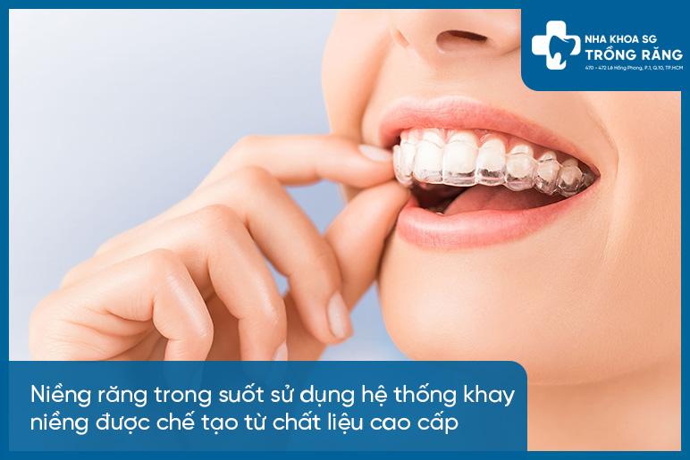 Ưu điểm niềng răng trong suốt
