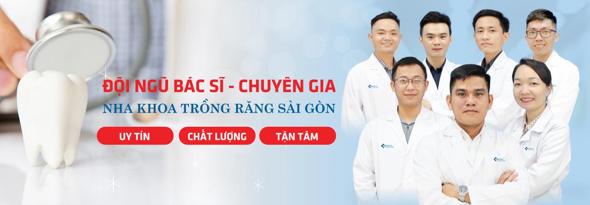 Banner Nha Khoa Trồng Răng Sài Gòn đội ngũ bác sĩ