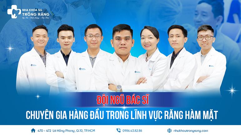 Đội ngũ bác sĩ nha khoa trồng răng sài gòn